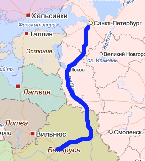 минск-питер маршрут