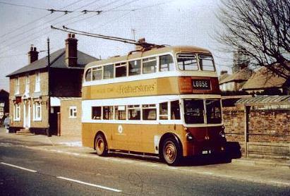 Двухэтажный троллейбус. Англия.