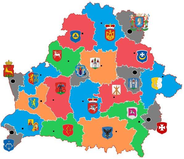 Административно-территориальное деление Беларуси на протяжении XX века.