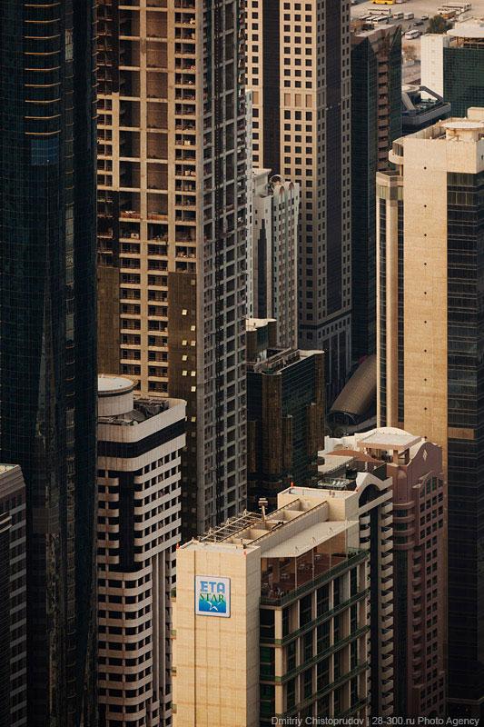 Ночные виды с самого высокого здания в мире