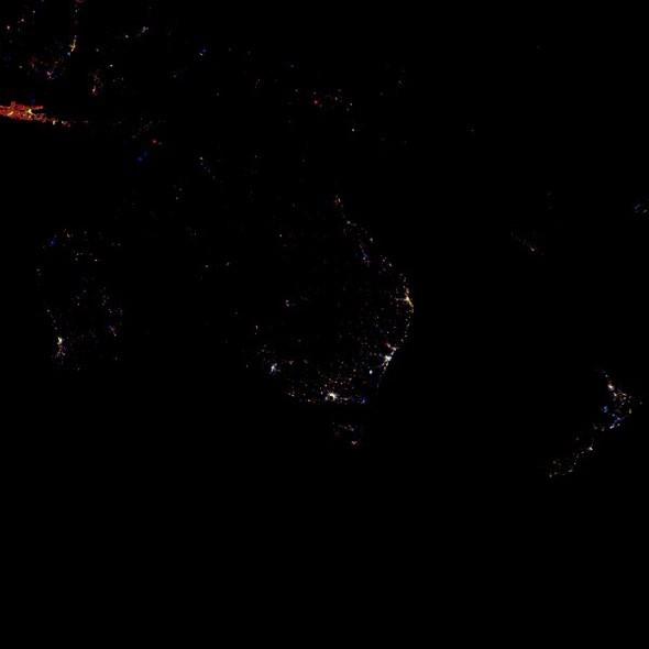 Огни Земли ночью