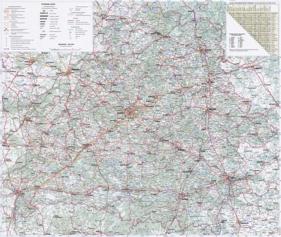 Подробная электронная карта Беларуси: страна и дороги как на ладони