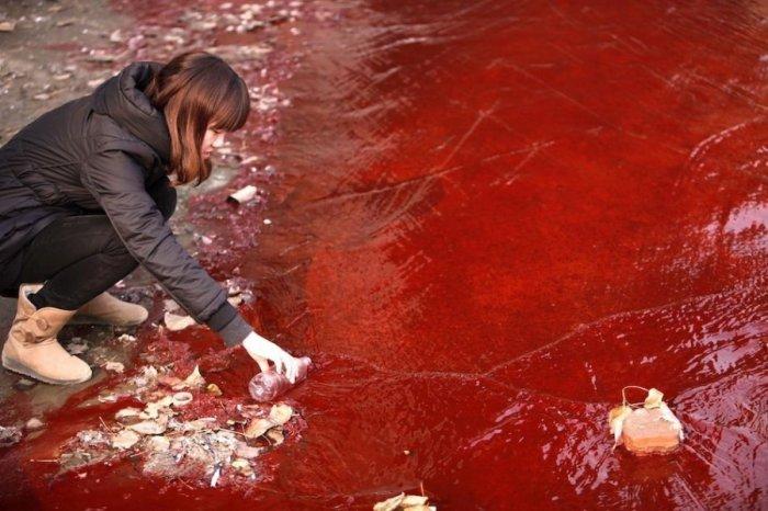 Кровавая река в Китае