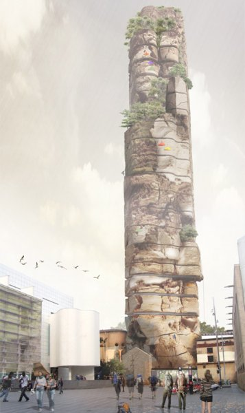 Barcelona Rock - концепт хостела для скалолазов