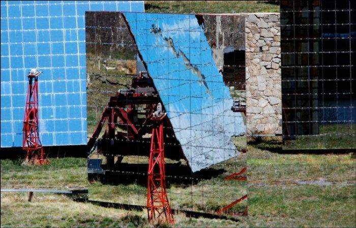 Огромная солнечная печь в Узбекистане