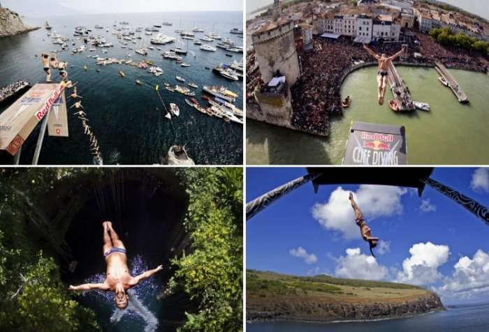 Лучшие фото с Red Bull Cliff Diving