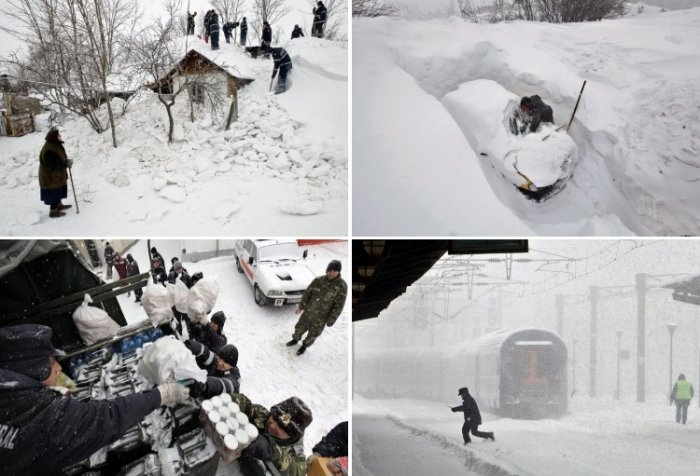 Румыния утопает в сугробах