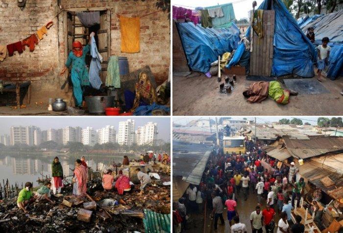 Жители трущоб в разных странах мира