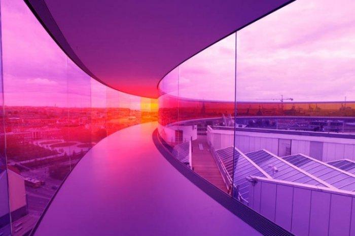 Новая достопримечательность Дании Радужная панорама