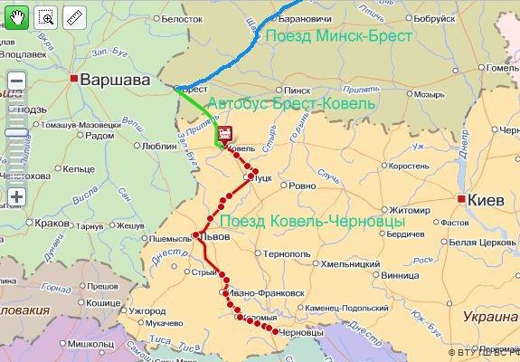 из Минска в Каменец-Подольский и Хотин