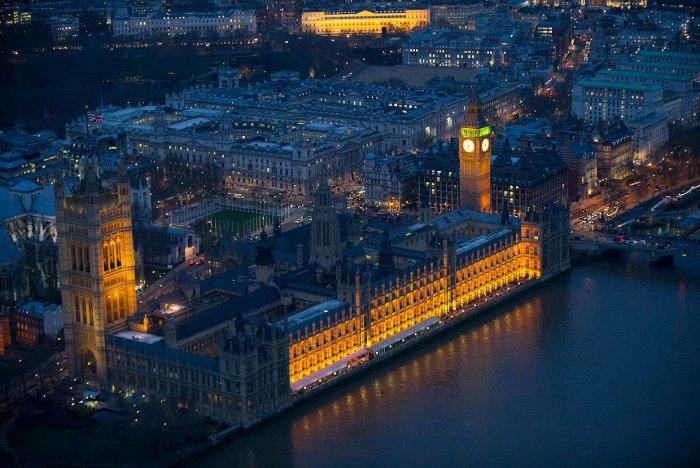 Ночная Англия с высоты