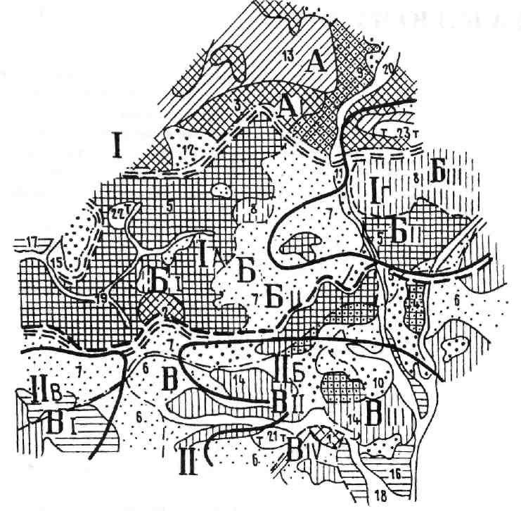Схема инженерно-геологического