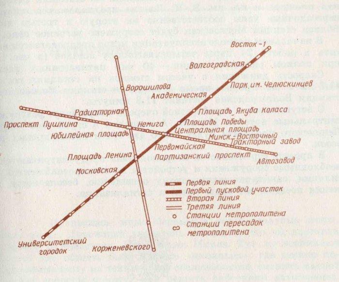 Схемы метро Минска