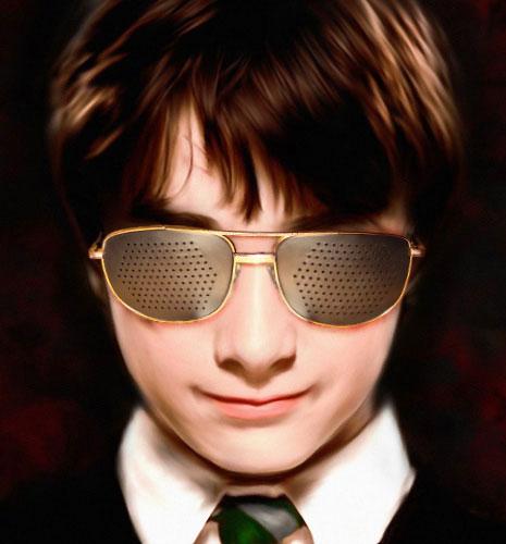 Перфорационные очки или как улучшить зрение?