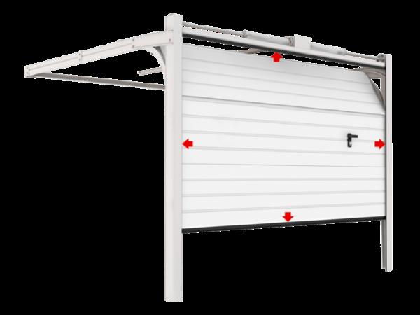 Конструкция секционных гаражных ворот