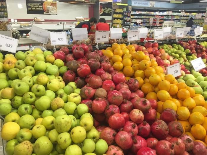 Цены на еду в магазинах и кафе Баку