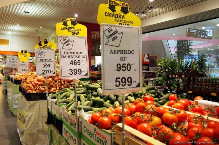 Цены на продукты в Казахстане. Обзор сетевых супермаркетов и кафе