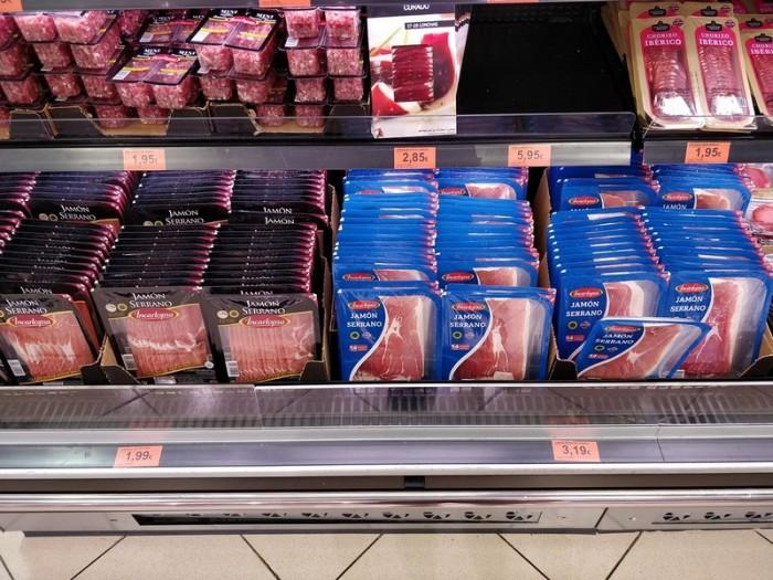 Цены на продукты в супермаркетах Барселоны